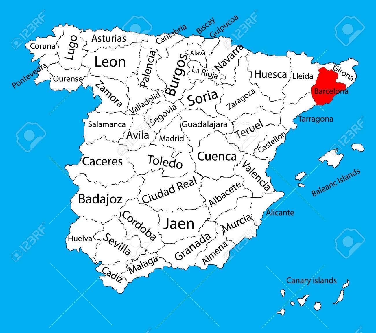 Mapa Spanelsko Barcelona Mapa Spanelsko Barcelona Katalansko