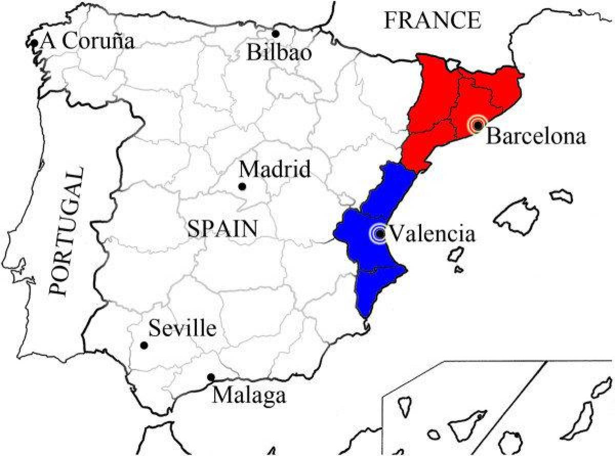mapa barcelony do valencie