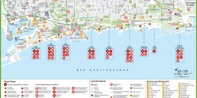 El Born Barcelona Mapa.Barcelona Mapa Mapy Barcelona Katalansko Spanelsko